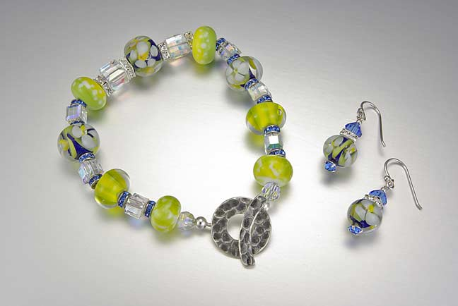 Blue and Yellow Crystal Bracelet