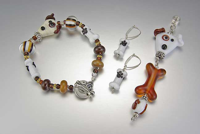 A Dog and his Bone Bracelet Set